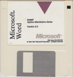 MS Word5 for Mac D1