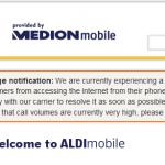 Aldi Mobile: Ain't no data for you this morning!
